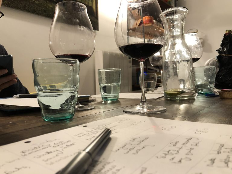 Bordeaux wine tasting group